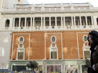 The Palacio de la Música on Madrid's central thoroughfare, Gran Vía. Mango, Gap and Primark are among its potential buyers.