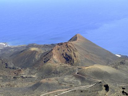 Teneguía volcano in the south of La Palma, where the seismic activity has been recorded.