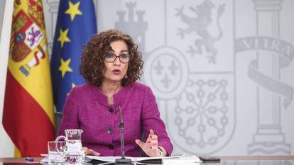 Government spokesperson María Jesús Montero.