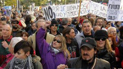 In September 2012 there was another large protest outside Spanish Congress.