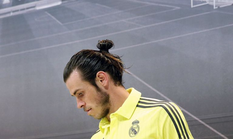 Bale at Wednesday's press conference.