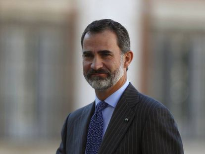 Felipe VI at an official event in Madrid on Monday.