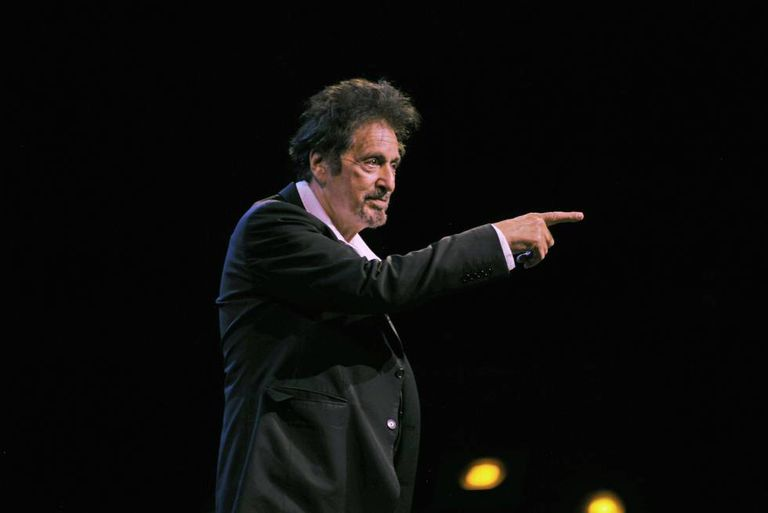 Al Pacino on stage in Buenos Aires.