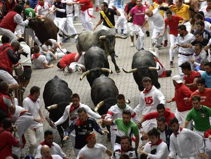The last day of the Running of the Bulls 2018.