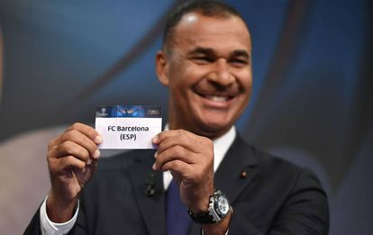 Ruud Gullit at Monday's Champions League draw.
