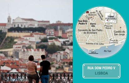 The St Peter of Alcántara viewpoint in Lisbon.