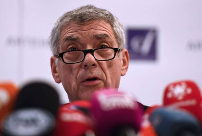 Suspended Spanish soccer boss Ángel María Villar.