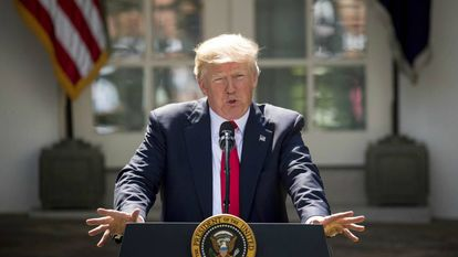 Donald Trump announces the US will be pulling out of the Paris climate deal.