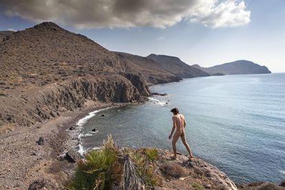 The beach of Los Toros, near Isleta del Moro, in Cabo de Gata natural park (Almería).