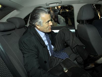 Luis Bárcenas seen in 2011 after testifying before a judge at the Madrid regional High Court.