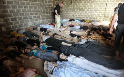 Victims of the gas attack against the Damascus suburb of Ghuta last August 21.