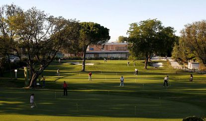 The golf course at the Club de Campo Villa in Madrid, whose 22,000 members pay just a symbolic fee.