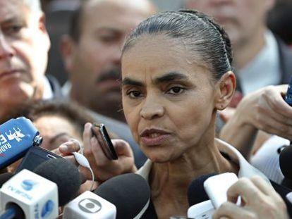 Marina Silva on Tuesday in Brasilia.