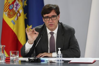 Health Minister Salvador Illa during Friday's press conference