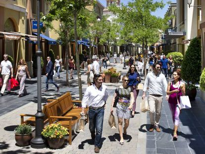 The Las Rozas Village shopping center outside Madrid.