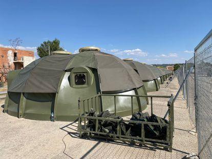 The camp set up at the Torrejón de Ardoz (Madrid) air base.
