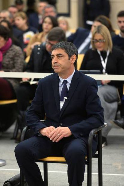 Josep Lluís Trapero in court on January 20.