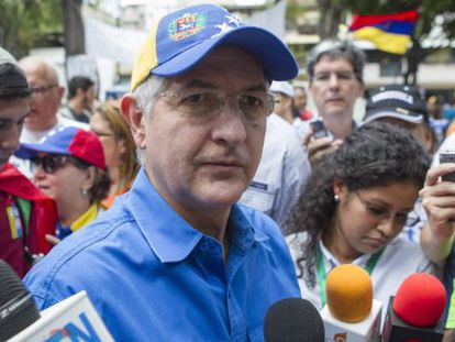 Caracas Mayor Antonio Ledezma during a protest last year.
