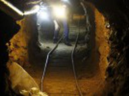 The 123-meter passageway from Mexico was allegedly being constructed by the drug baron's Sinaloa cartel