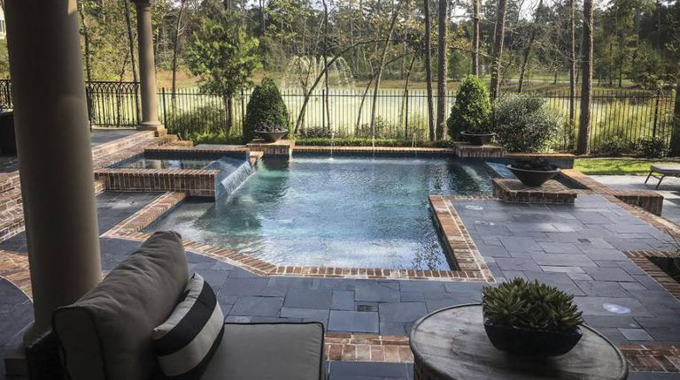 A show home similar to Duarte's in the upscale Woodlands community, in Houston.