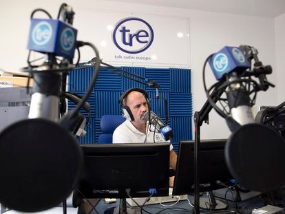 Talk Radio Europe host Giles Brown.