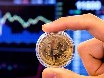 A representation of bitcoin.