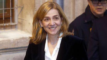 Princess Cristina de Borbón following her testimony in February before Judge Castro.