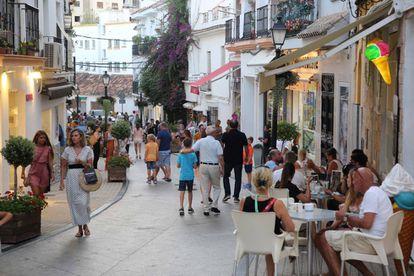 Tourists in Marbella.