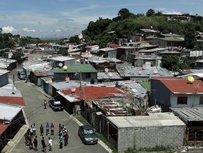 A view of the poor La Carpio neighborhood in Costa Rica.