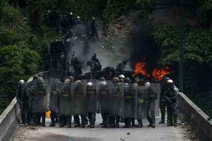The National Guard in Caracas on Tuesday.