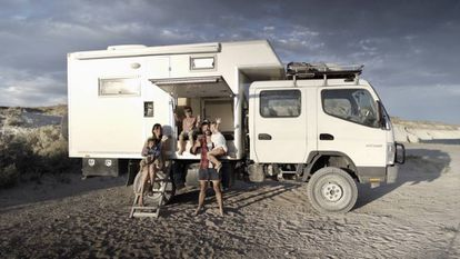 The Spanish family planning to travel the world in a truck.