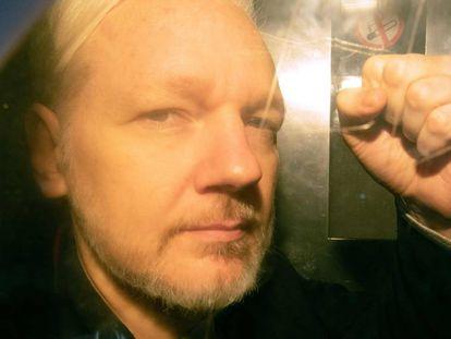 Julian Assange in London in May 2019.