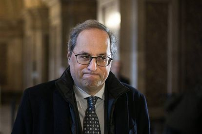 Quim Torra in the Catalan parliament.