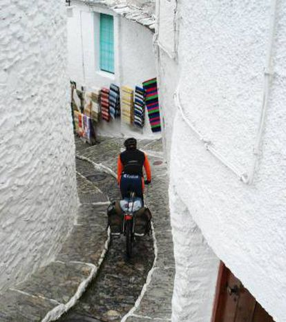 A stretch of the Transandalus through a village in the Alpujarra mountains in Granada province.