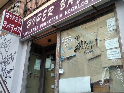 A now-closed Chinese bazaar in Madrid's Chamberí district.
