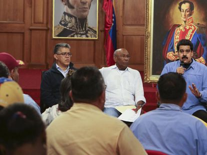 President Nicolás Maduro addresses party leaders this week.