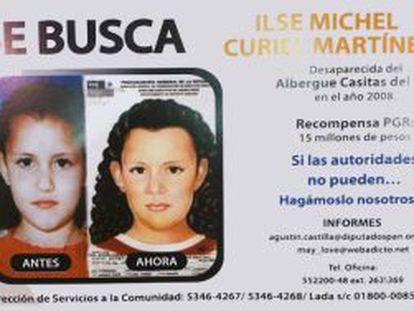 A poster asking the public's help in finding Ilse Michel.