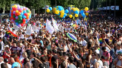Gay Pride parade in Madrid.
