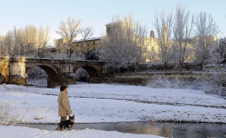 A recent snow storm left white landscapes in many areas, including León.