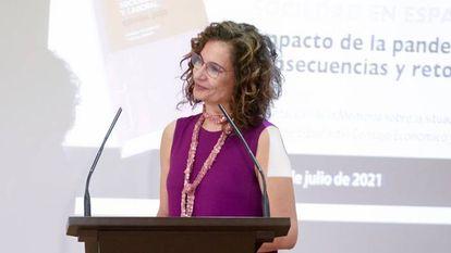 Finance Minister María Jesús Montero.