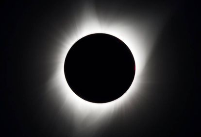 Image of the eclipse from Oregon