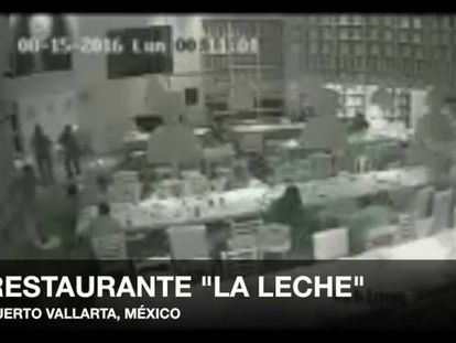 CCTV footage of the kidnapping of El Chapo Guzmán's son.