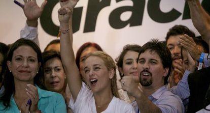 Liliana Tintori, wife of jailed Venezuelan opposition leader Leopoldo López.