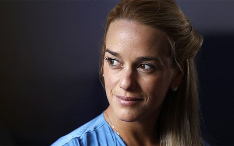 Lilian Tintori, the wife of imprisoned Venezuelan opposition leader Leopoldo López.