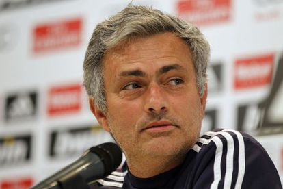 José Mourinho smiles as he faces the press in Madrid on Tuesday.