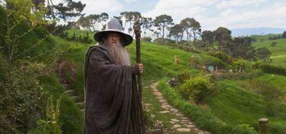Ring back: Ian McKellen returns as Gandalf the wizard  in Peter Jackson's The Hobbit: An Unexpected Journey