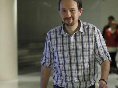 Podemos leader Pablo Iglesias in Congress on Tuesday.
