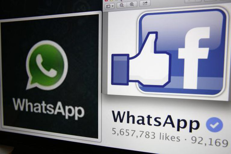 "Illustration photo shows ""likes"" on WhatsApp's Facebook page displayed on a laptop screen."