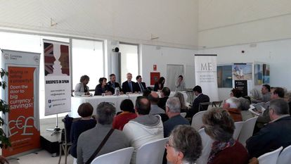 A meeting of 'Brexpats in Spain' last Friday in Mijas, Málaga.