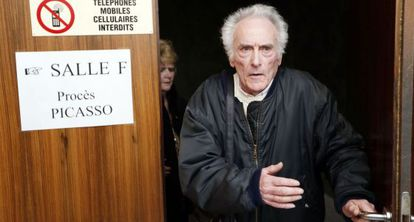 Pierre Le Guennec and his wife Danielle in court on Tuesday.